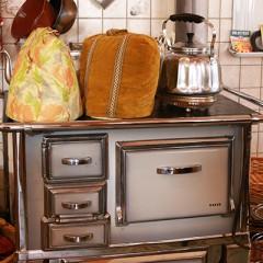 Antiker Herd in Omas Küche